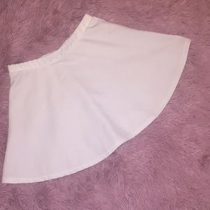 White skater skirt from F21!